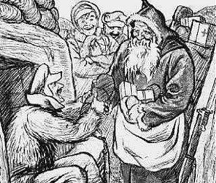 Babbo Natale in Trincea in un bozzeto del 1914