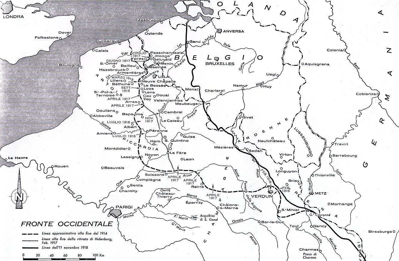 Cartina D Italia 1915.La Grande Guerra