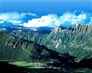 Panorama dell'Isonzo a Caporetto